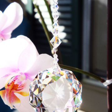 Crystal Suncatcher, Swarovski Crystal Sun Catcher, Feng Shui Decor