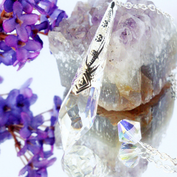 Swarovski Crystal Clear Single Point Metaphysical Magic Wand