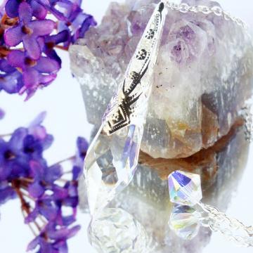 Swarovski Crystal Clear Pendulum, Divining Pendulum, Dowsing Pendulum