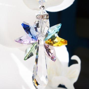 Rainbow Angel Suncatcher Swarovski Crystal Sun Catcher for your Home