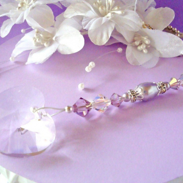 Ceiling Fan Pull Chain, Purple Little Girls Room, Nursery Decor, Swarovski Crystal Light Pulls