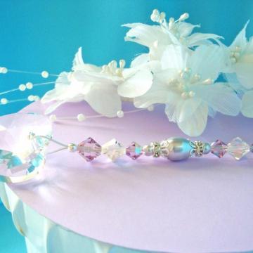 Ceiling Fan Pull Chain, Purple Little Girls Room, Nursery Decor, Swarovski Crystal Light Pulls