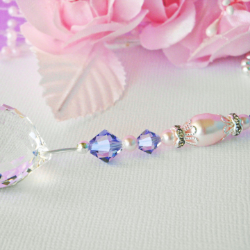 Crystal Ball Ceiling Fan Pull, Purple Pink Little Girls Room, Nursery Decor, Swarovski Crystal Light Pulls
