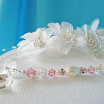 Pink Ceiling Fan Pull Chain, Little Girls Room, Baby Girl Nursery Decor Swarovski Crystal Light Pulls
