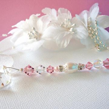 Pink Ceiling Fan Pull Chain, Little Girls Room, Baby Girl Nursery Decor Swarovski Crystal Light Pulls