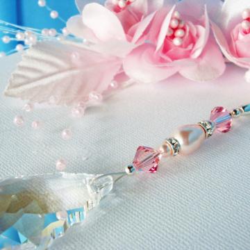 Ceiling Fan Pull, Pink Little Girls Room, Baby Girl Nursery Decor, Light Pulls Swarovski Crystal