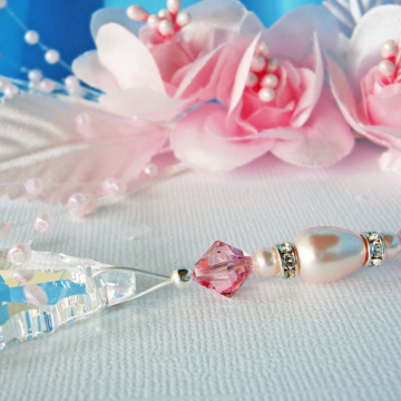 Ceiling Fan Pull, Pink Little Girls Room, Baby Girl Nursery Decor, Light Pulls Swarovski Crystal