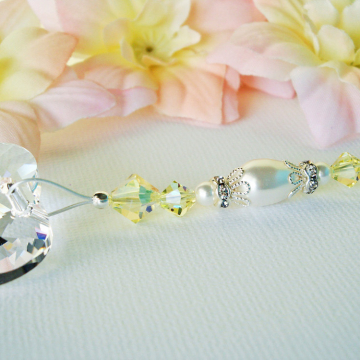 Ceiling Fan Pull Chain, Yellow Swarovski Crystal Light Pulls, Nursery Decor