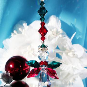 Angel Christmas Ornament Swarovski Crystal Angel Rear View Mirror Charm Christmas Gift