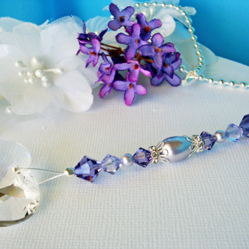 Ceiling Fan Pull, Purple Little Girls Room, Swarovski Crystal Light Pulls, Shabby Chic Decor